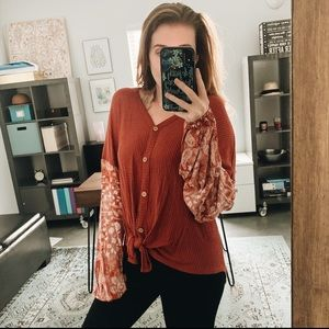Tied Blouse
